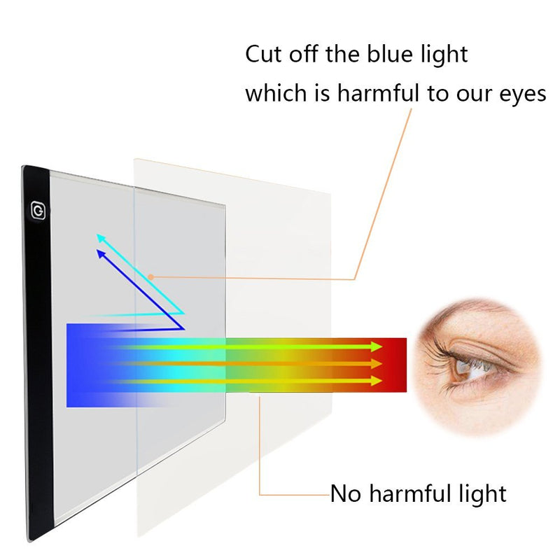 A4 Ultra-Thin LED Tracing Light Box USB Power Cable with Eyesight-Protected - wormholetattoo