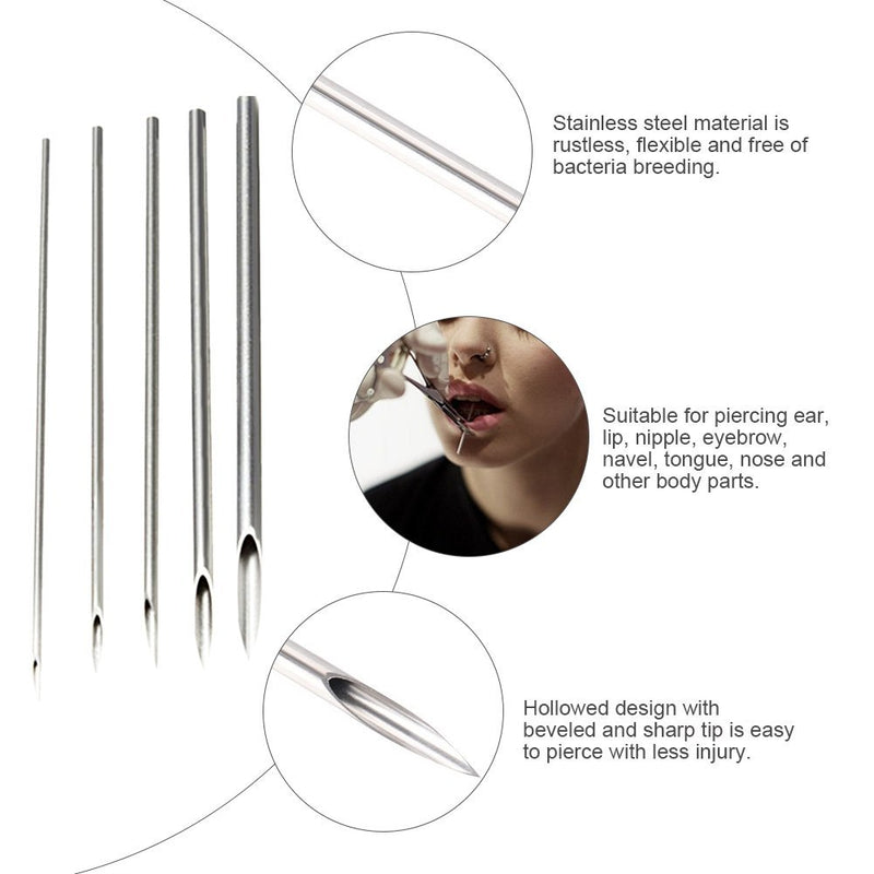 Wormhole 50pcs Mixed piercing needle kit