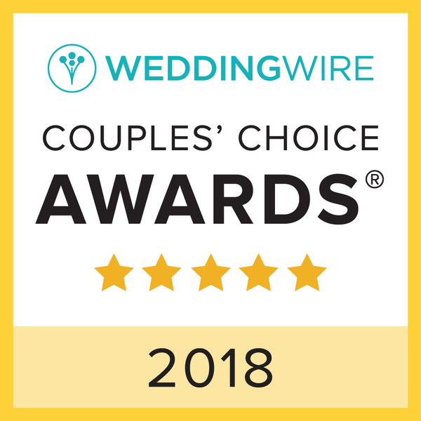 WeddingWire 2018 Couples' Choice award