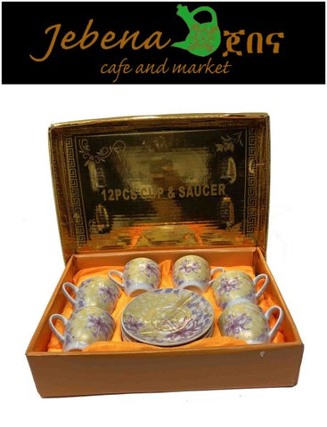 Image of 12PCS Cups and Saucer - AVM