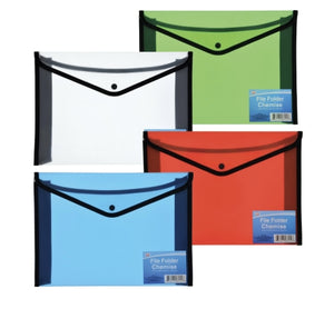 Plastic & Nylon File Folders with Snap Closure