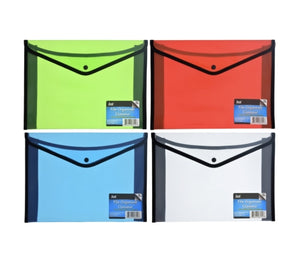 DT111-Plastic & Nylon File Folders with Snap Closure