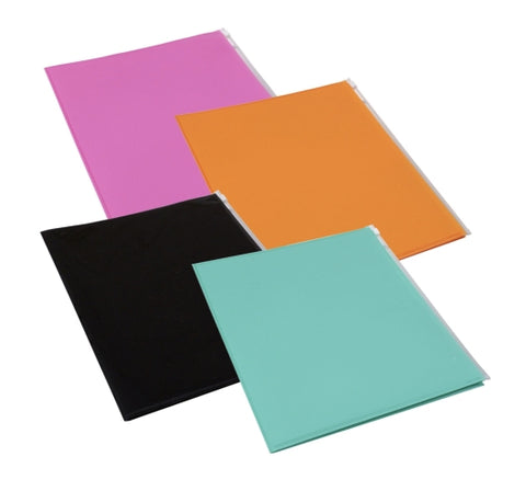 DT25-Plastic File Folders with Zip Cover Pockets