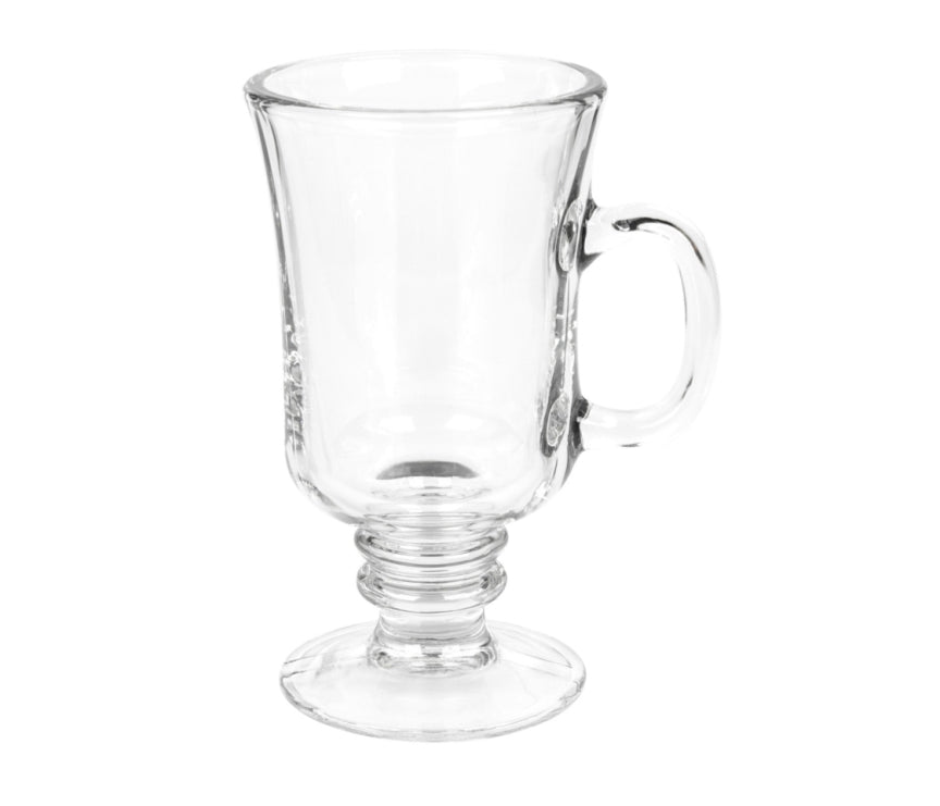 Clear Glass Coffee Mugs- set of 4 - AVM