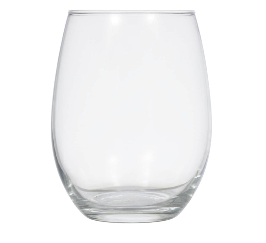 Simple Stemless Glass Wine Glasses- 4 Count - AVM