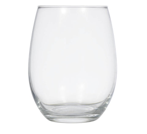 Image of Simple Stemless Glass Wine Glasses- 4 Count - AVM