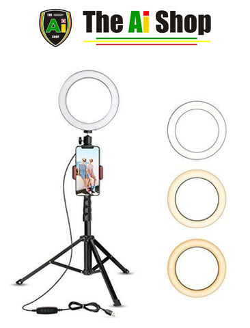 Selfie Ring Light with Tripod Stand & Cell Phone Holder - AVM