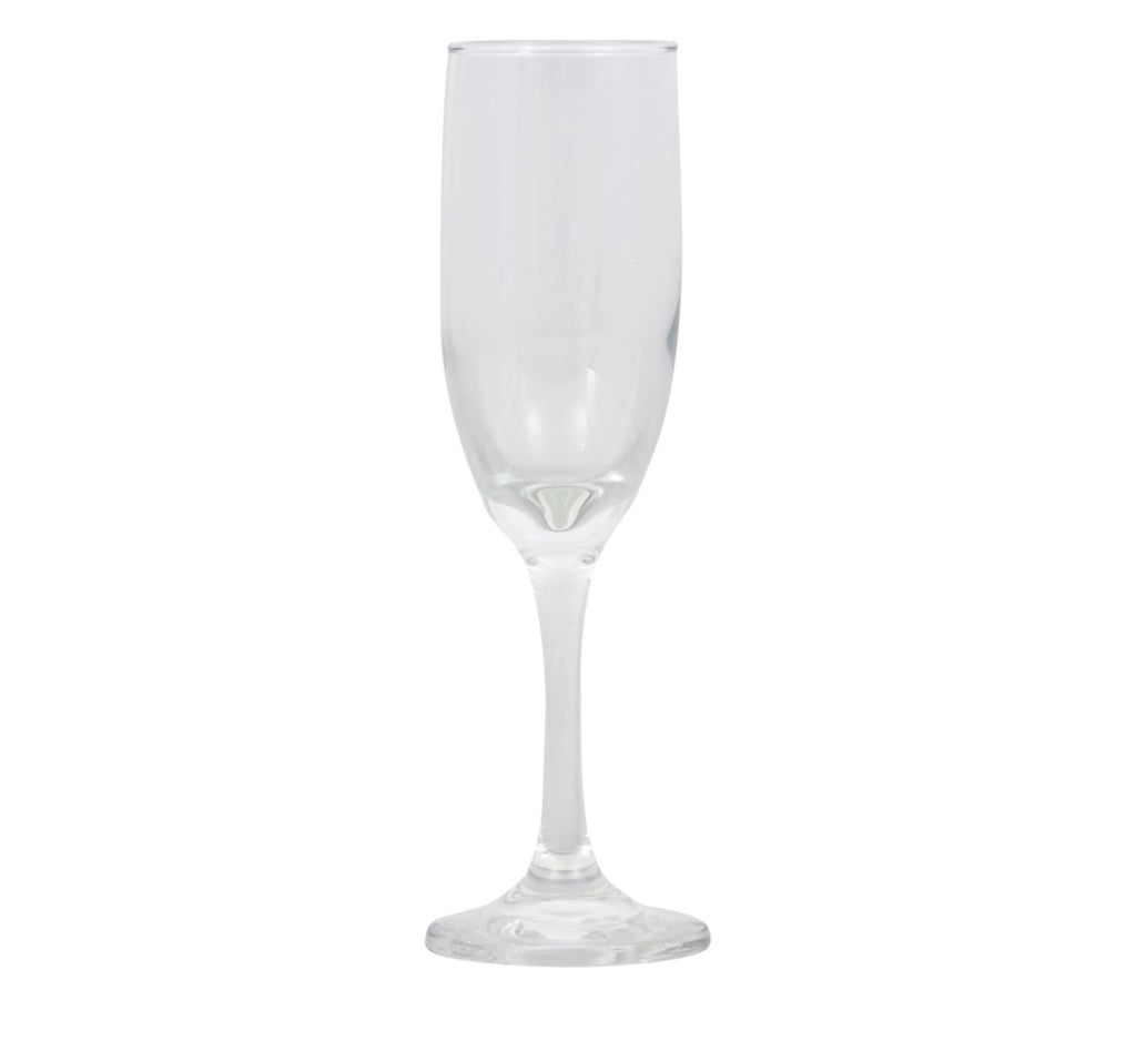 Tapered Glass Champagne Flutes, 6 Count - AVM