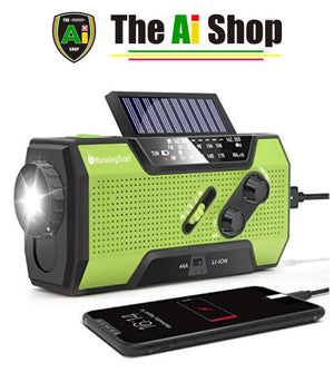 Solar Crank NOAA Weather Radio for Emergency - AVM