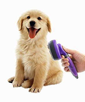 Image of Self Cleaning Slicker Brush For pets - AVM
