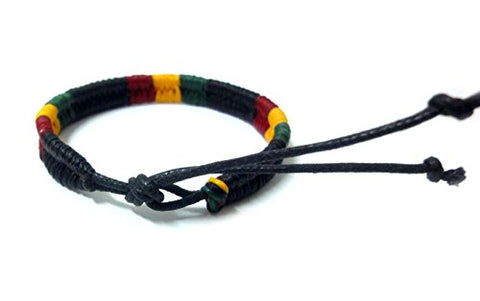 Image of Rasta Plaided Hippie Bracelet - AVM