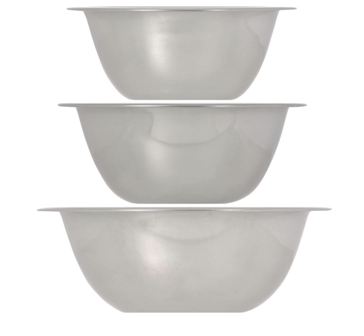 Stainless-Steel Mini Mixing Bowls- 3 count - AVM