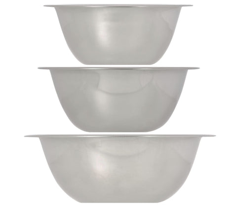 Image of Stainless-Steel Mini Mixing Bowls- 3 count - AVM