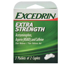 Excedrin Extra Strength Caplets- 12 count (2 pack)