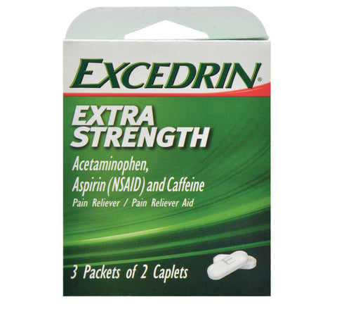 Excedrin Extra Strength Caplets- 12 count (2 pack) - AVM