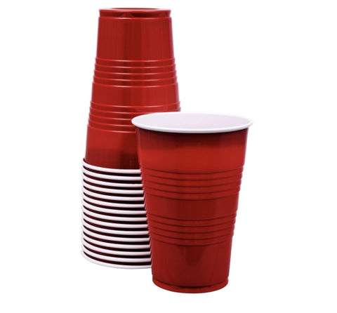 Image of Red Plastic Party Cups- 48 cups - AVM