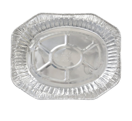 Image of Large Oval Foil Roaster Pans- 10 count - AVM