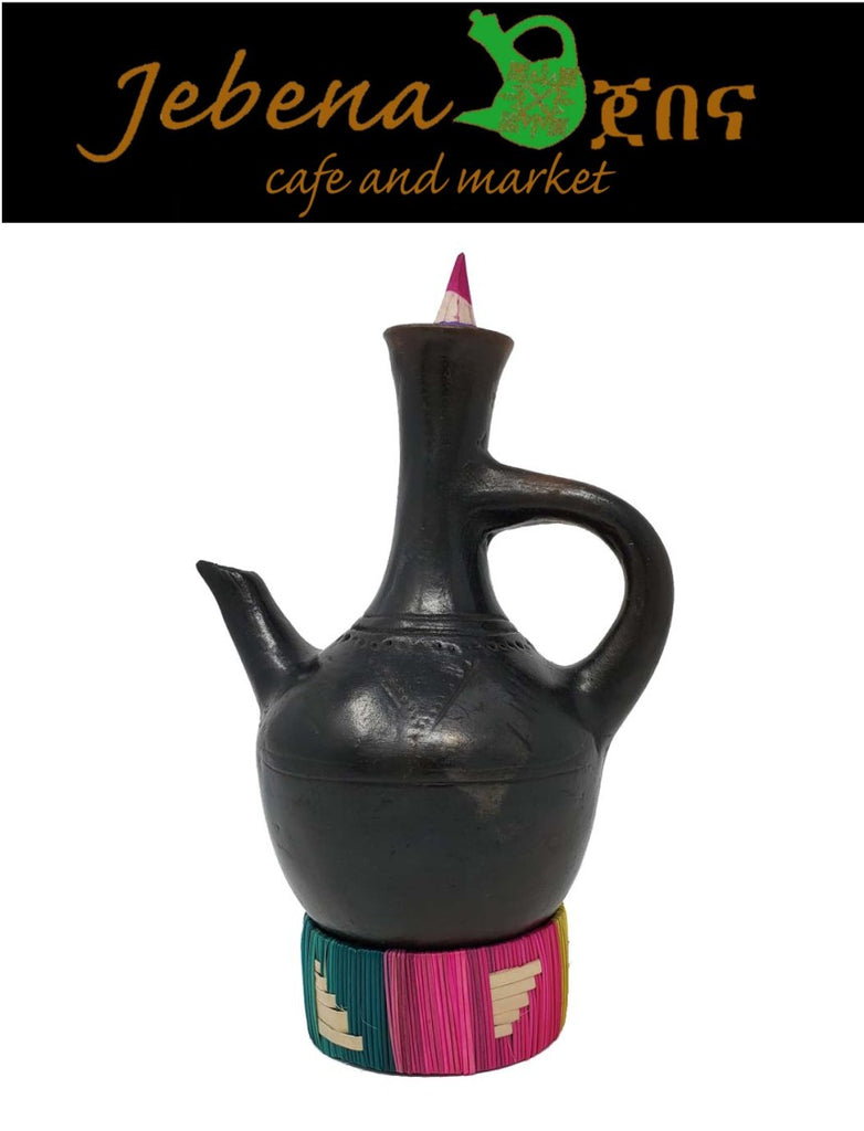Jebena, Ethiopian and Eritrean Traditional Coffee Maker Made From Clay - AVM