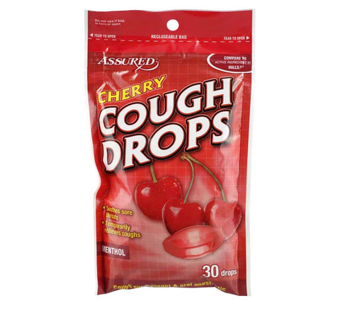 Image of Wild Cherry Cough Drops, 30 Drops - AVM