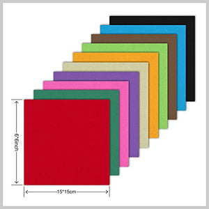 Double Sided Color - 200 Sheets - 20 Colors - 6 Inch Square Easy Fold Paper