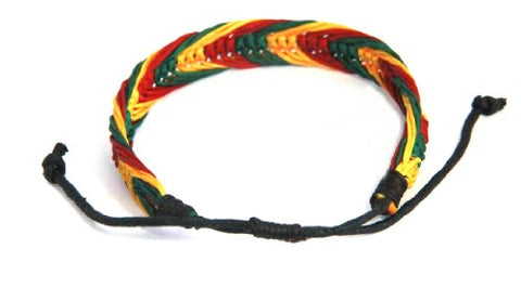 Rasta Bracelet Cotton HandmadeJamaican Jewelry - AVM