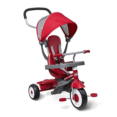 4-in-1 Stroll 'N Trike, Red Toddler Tricycle - AVM