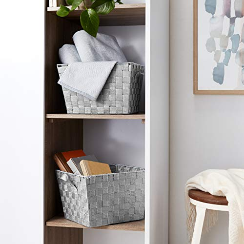 Woven Baskets, Gray, 2-Pack - AVM
