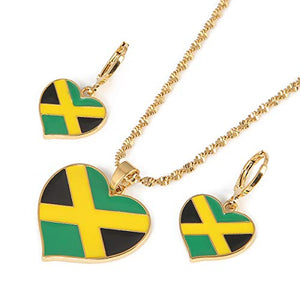 Jamaican Flag Gold Color Jewelry - AVM