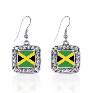 Silver Square Jewelry with Jamaican flag - AVM