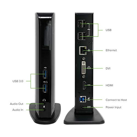 Image of Plugable USB 3.0 Universal Laptop Docking Station for Windows - AVM