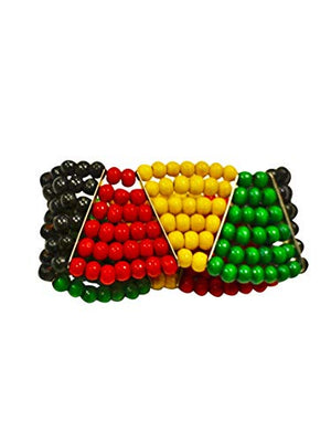 Jamaican Bracelet Multicolor Beaded For Women And Girls