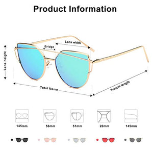 Street Fashion Metal Frame Women Sunglasses