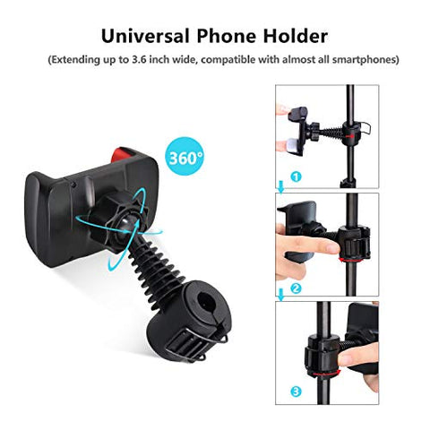 Image of Selfie Ring Light with Tripod Stand & Cell Phone Holder for Live Stream/Makeup,YouTube Video/Photography