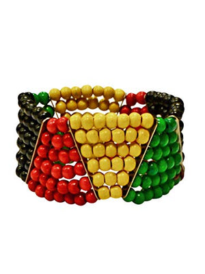 Jamaican Bracelet Multicolor Beaded For Women And Girls - AVM