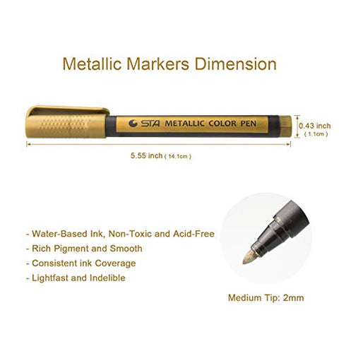 Image of Metallic Marker Pens - AVM