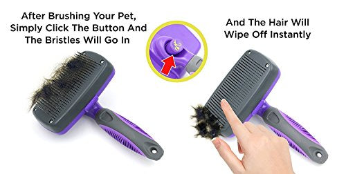 Self Cleaning Slicker Brush For pets - AVM