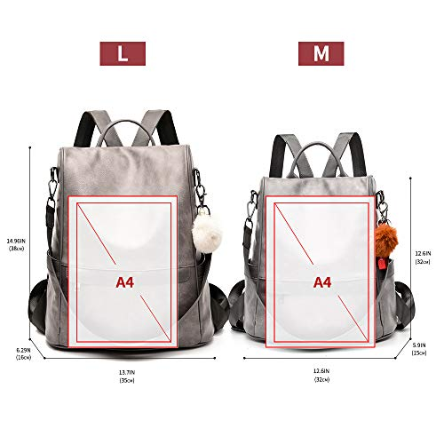 Women Backpack Purse PU Leather - AVM