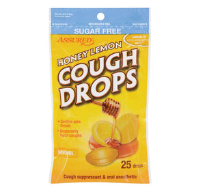 Honey Lemon sugar free Cough Drops- 75 drops (3 pack) - AVM
