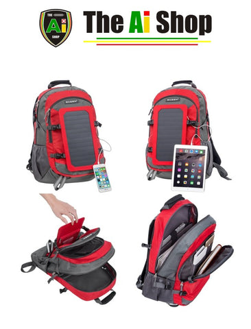 Smart Hiking Backpack, provides solar power - AVM