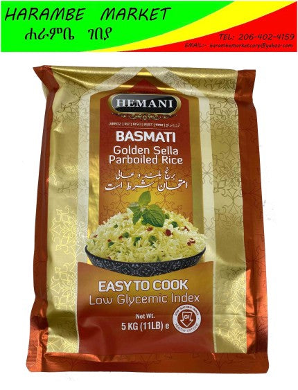 Hemani Basmati Golden Sella Parboiled Rice - AVM