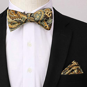 Self Tied Bow Tie and Suspenders for Men