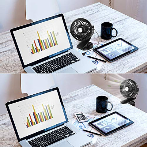 Image of Battery Operated Clip on Mini Desk Fan - AVM