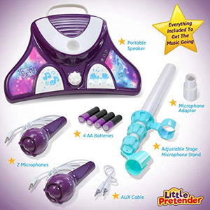 Kids Karaoke Machine with 2 Microphones and Adjustable Stand
