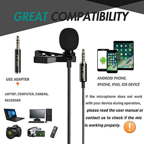 Image of Professional Lavalier Lapel Microphone - AVM
