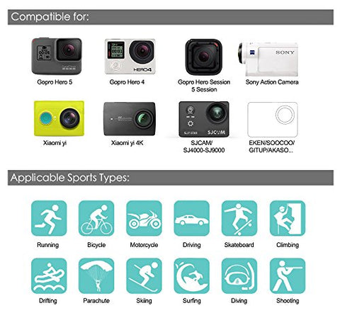 Image of Soft Digits 50 in 1 Action Camera Accessories Kit - AVM