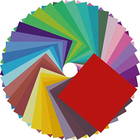 Image of Double Sided Color - 200 Sheets - 20 Colors - 6 Inch Square Easy Fold Paper - AVM