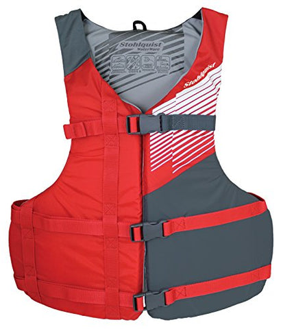 Image of Oversize Fit Life Jacket/Personal Floatation Device, Red/Gray - AVM