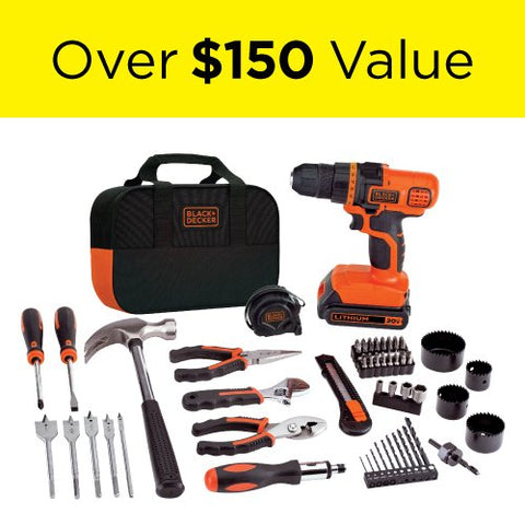 Image of 20V MAX Drill & 67 Home Tool Kit - AVM