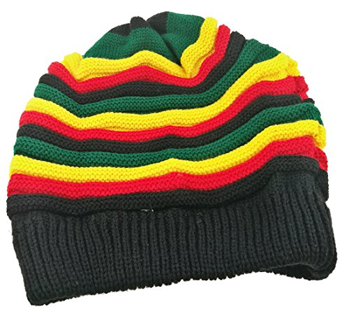 Colored Striped Long Style Jamaican Reggae Hat