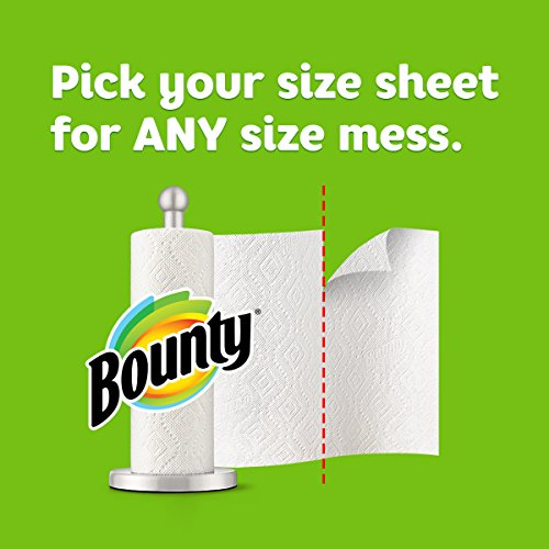 Bounty Select-a-Size Paper Towels, White, 6 Double Rolls = 12 Regular Rolls, Prime Pantry